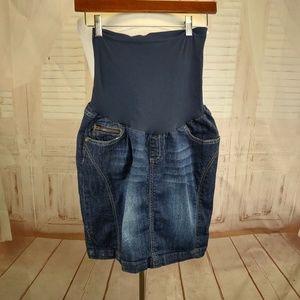 Indigo Blue maternity skirt size M.  #T80